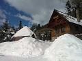 Chata Júlia v zime